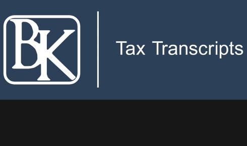 In The Spotlight: BK Tax Transcripts