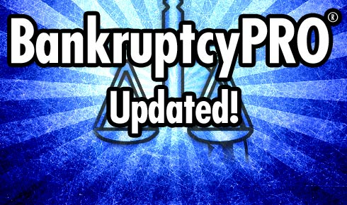 New BankruptcyPRO update