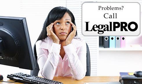 Contact the LegalPRO support staff